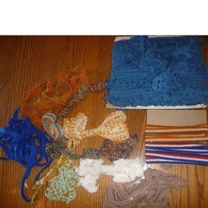Lot of Vtg 60's Fabric Fringe Trim Woven 40+ yards